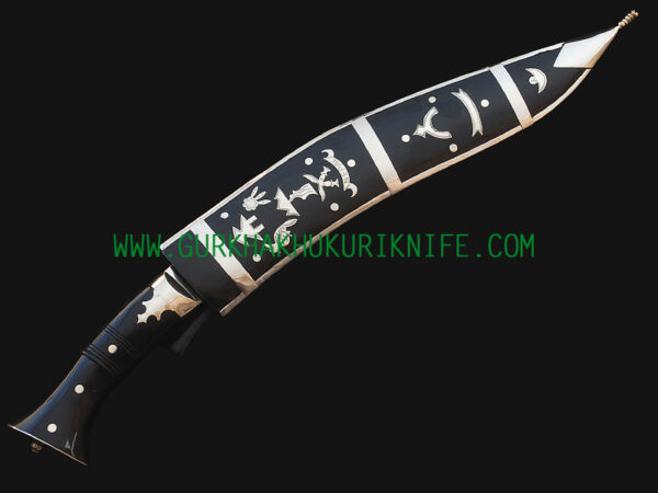 "12.5"" Dhankute Khukuri Knife - Plain Black"