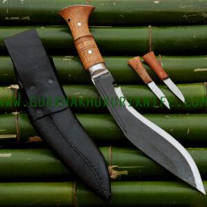 "10"" Black Ankhola Dui Chire Khukuri Knife"