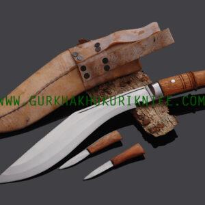 """11"""" Iraqi Twin Fuller Khukuri Knife"""