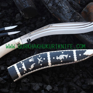 "11"" Dhankure Tin Chire Khukuri Knife – Bone Handle"