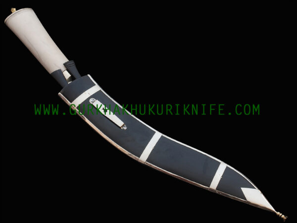 "12"" Dhankure Tin Chire Khukuri Knife – Bone Handle"