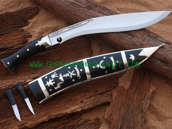 "12"" Dhankute Plain Khukuri Knife – Black"