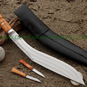 "15"" Tin Chire Dotted Panawal Khukuri Knife"