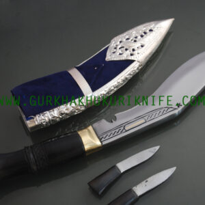 "8"" Kothimora Khukuri – Silver Decorated Knife"