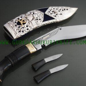 "8"" Kothimora Khukuri – Silver Decorated Knife"