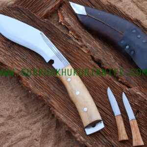 "8"" Afgan Kukri Knife– Wooden Handle"