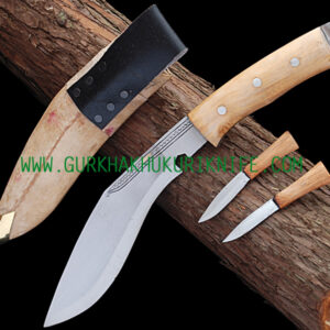 "8"" Afgan Khukuri Knife – Wooden Handle"