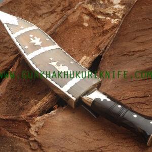 "9"" Cha Chire Budhana Dhankute Kukri Knife"