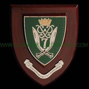 7th Duke Of Edinburgh's Gurkha Rifles Plaque