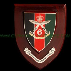 6th Queen Elizabeth's Gurkha Rifles Plaque