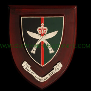 Royal Gurkha Rifles Plaque