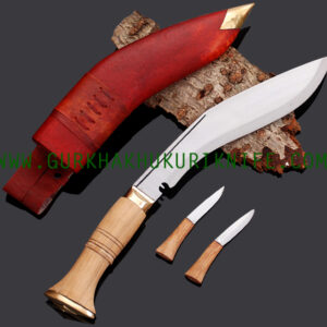 "10"" Jungle War Khukuri Knife - Red"